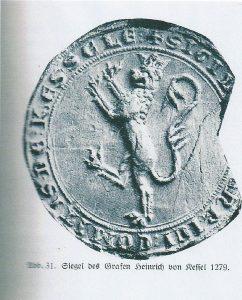 Siegel der Grafen von Kessel-Heinrich V. aus 1279