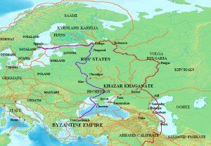 Osthandelsrouten Waräger-Kiew-Nowgorod-Konstantinopel